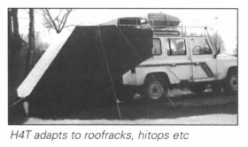 Caranex adapts to roofracks and hitops